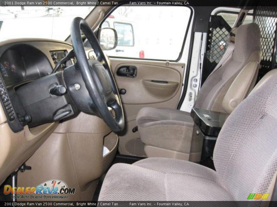 camel tan interior 2001 dodge ram van 2500 commercial. Black Bedroom Furniture Sets. Home Design Ideas
