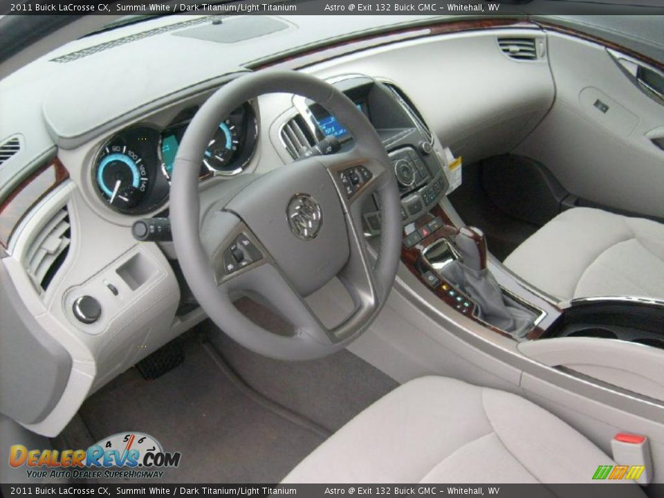 Dark Titanium Light Titanium Interior 2011 Buick Lacrosse Cx Photo 11