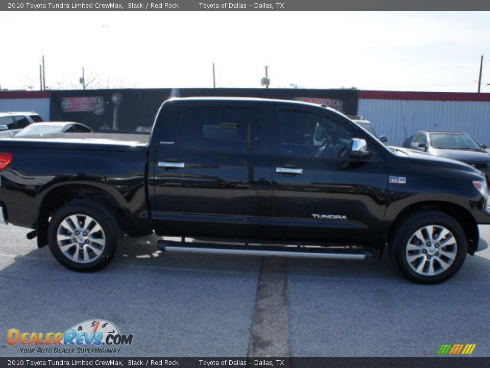 2010 toyota tundra limited crewmax black red rock photo 5. Black Bedroom Furniture Sets. Home Design Ideas