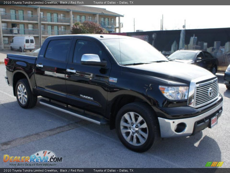 2010 Toyota Tundra Limited CrewMax Black / Red Rock Photo ...