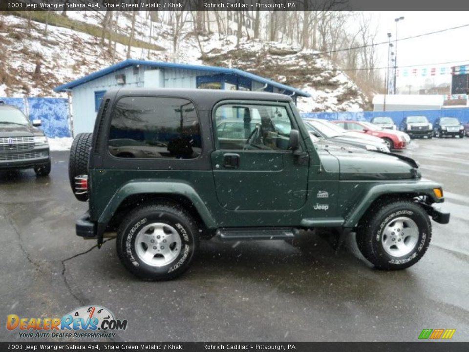 2003 jeep wrangler sahara 4x4 shale green metallic khaki. Black Bedroom Furniture Sets. Home Design Ideas