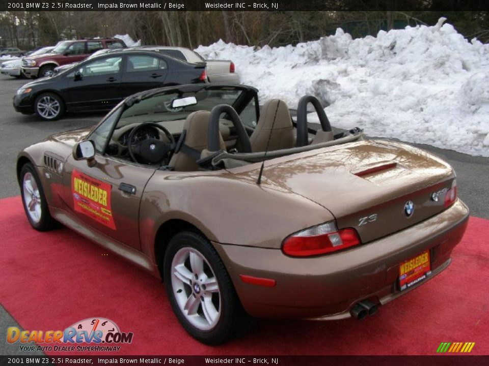 2001 Bmw Z3 2 5i Roadster Impala Brown Metallic Beige Photo 10 Dealerrevs Com