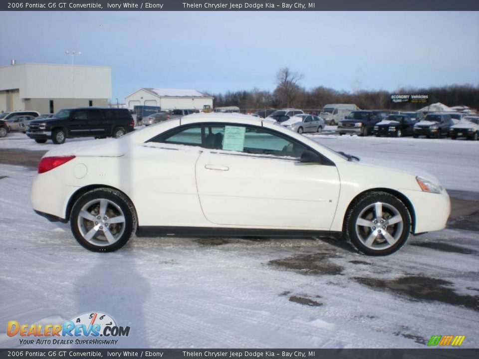 2006 pontiac g6 gt convertible ivory white ebony photo. Black Bedroom Furniture Sets. Home Design Ideas