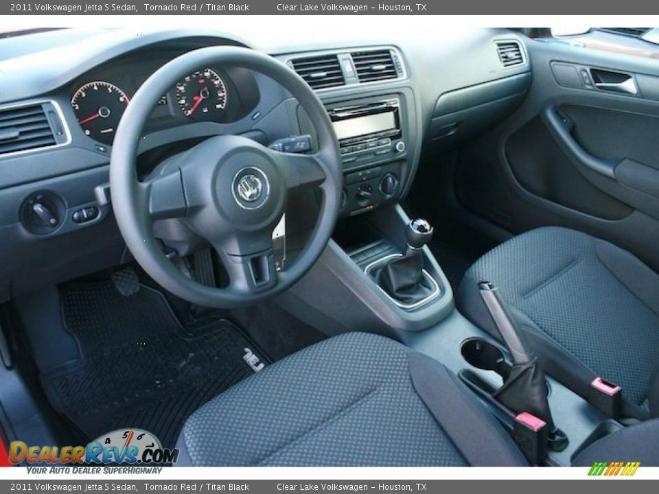 Titan Black Interior 2011 Volkswagen Jetta S Sedan Photo 10