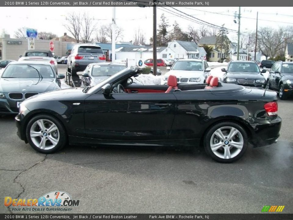 2010 Bmw 1 Series 128i Convertible Jet Black Coral Red