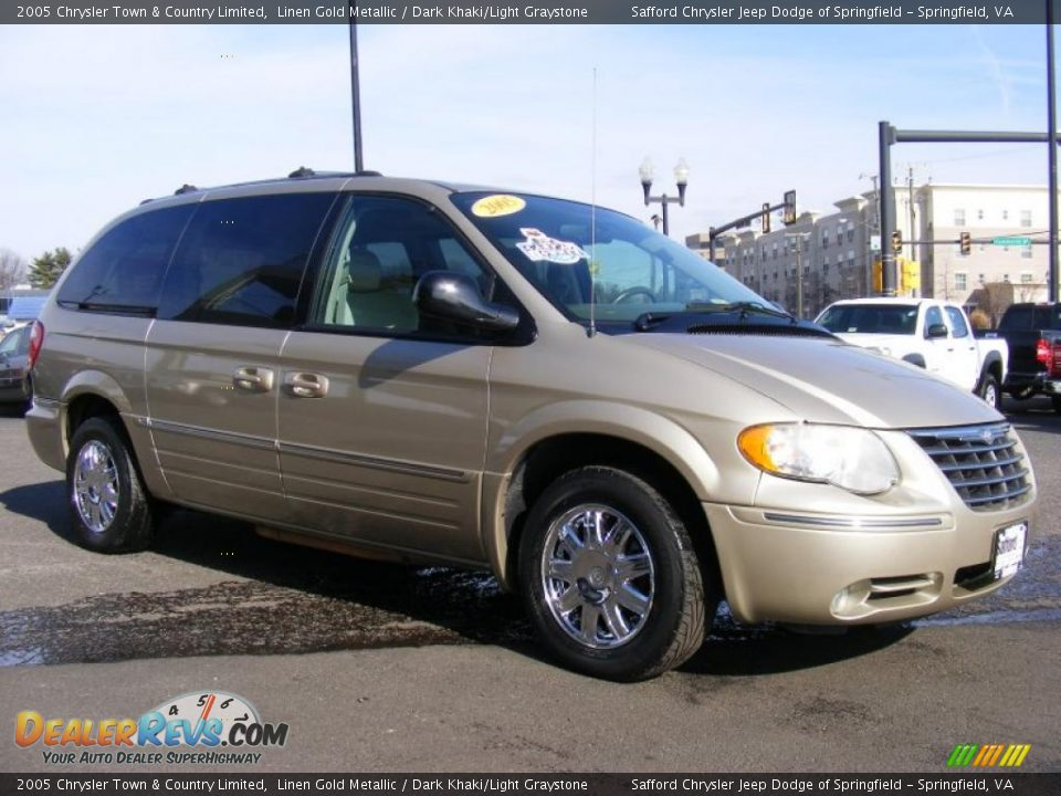 2005 Chrysler Town Amp Country Limited Linen Gold Metallic