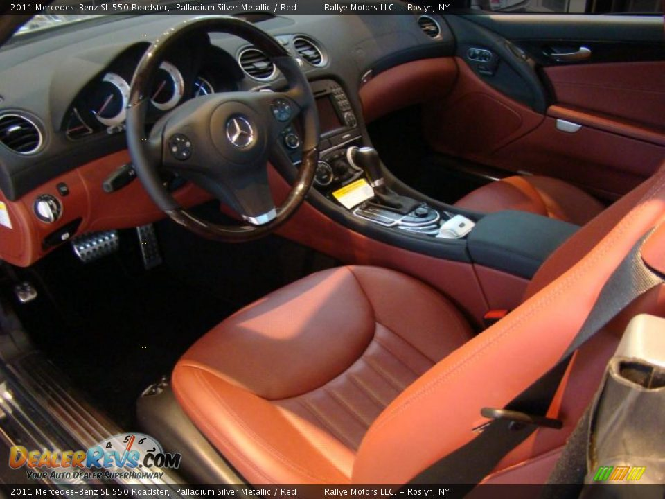 Red Interior 2011 Mercedes Benz Sl 550 Roadster Photo 9