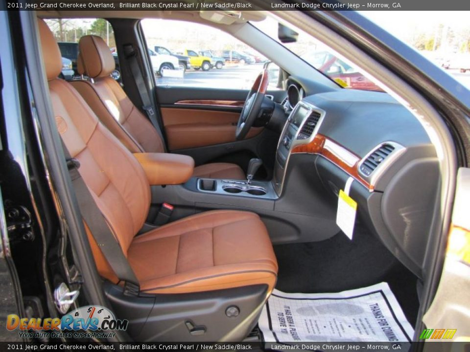 new saddle black interior 2011 jeep grand cherokee overland photo 11. Black Bedroom Furniture Sets. Home Design Ideas