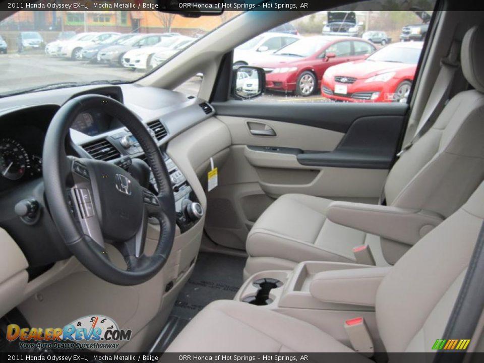 Beige Interior 2011 Honda Odyssey Ex L Photo 13 Dealerrevs Com
