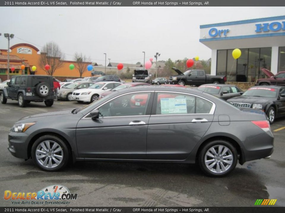 2011 Honda Accord Ex L V6 Sedan Polished Metal Metallic Gray Photo 2 Dealerrevs Com