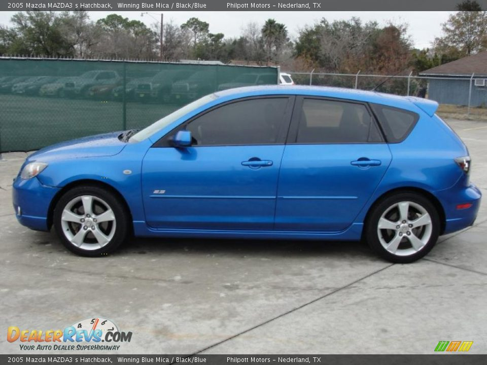 2005 mazda mazda3 s hatchback winning blue mica black. Black Bedroom Furniture Sets. Home Design Ideas