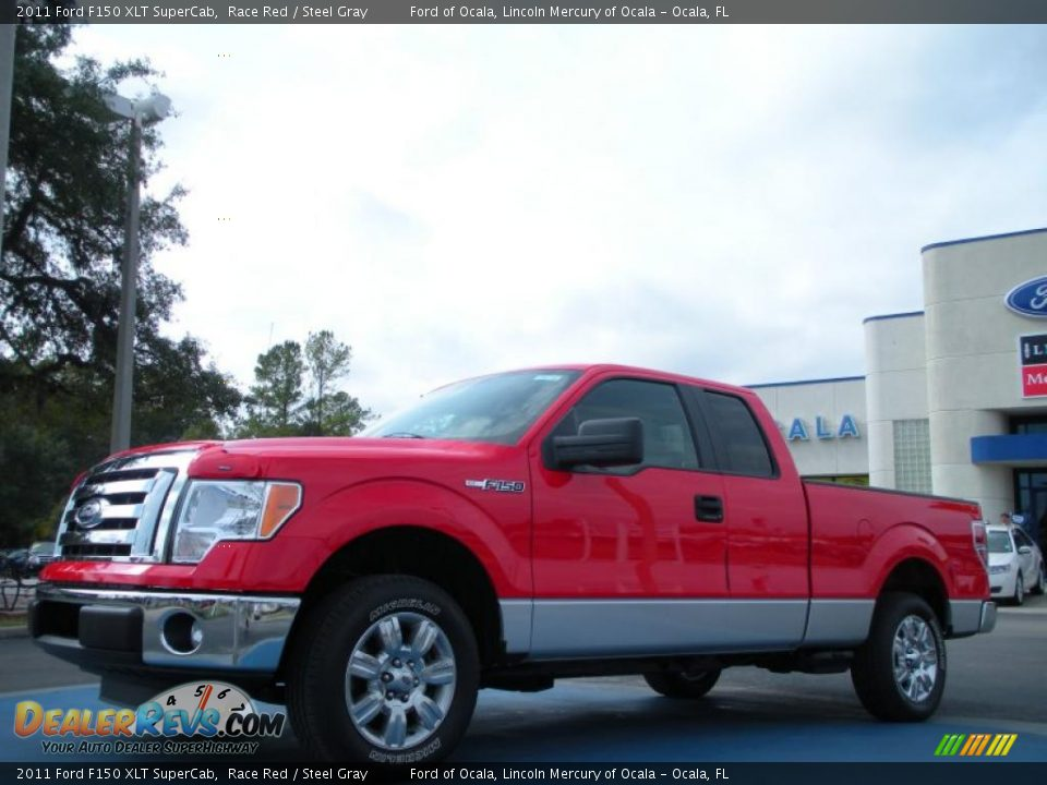 2011 ford f150 xlt supercab race red steel gray photo 1. Black Bedroom Furniture Sets. Home Design Ideas