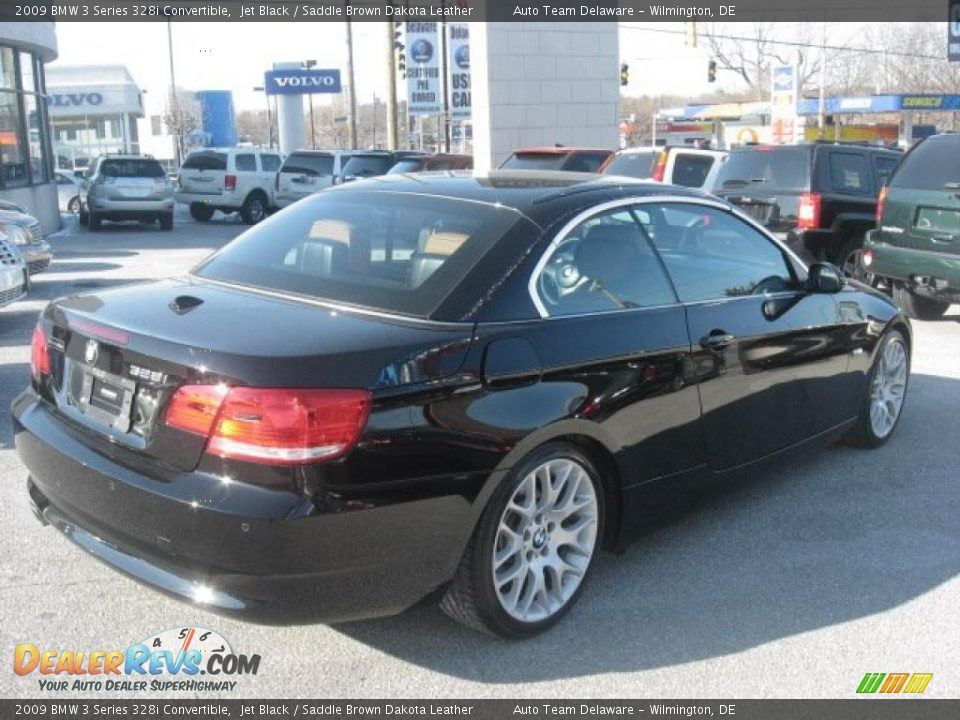 2009 bmw 3 series 328i convertible jet black saddle brown dakota leather photo 6. Black Bedroom Furniture Sets. Home Design Ideas