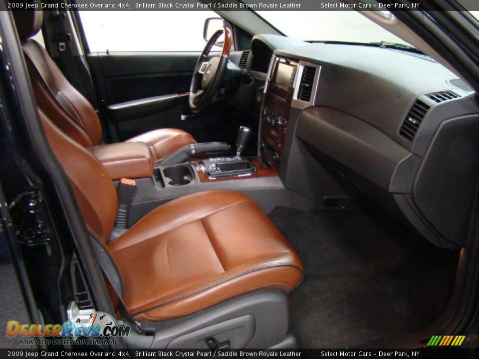 Saddle Brown Royale Leather Interior 2009 Jeep Grand Cherokee Overland 4x4 Photo 11 Dealerrevs Com