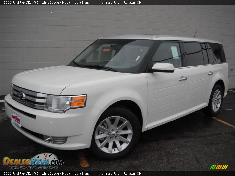 2011 ford flex sel awd white suede medium light stone. Black Bedroom Furniture Sets. Home Design Ideas