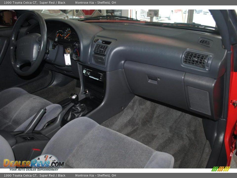 Black Interior 1990 Toyota Celica Gt