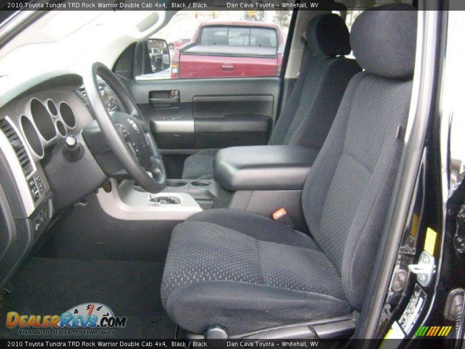 Black Interior - 2010 Toyota Tundra TRD Rock Warrior Double Cab 4x4