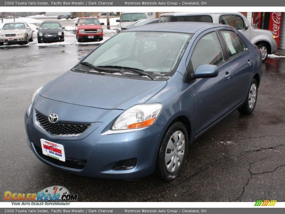 2009 toyota yaris sedan pacific blue metallic dark. Black Bedroom Furniture Sets. Home Design Ideas