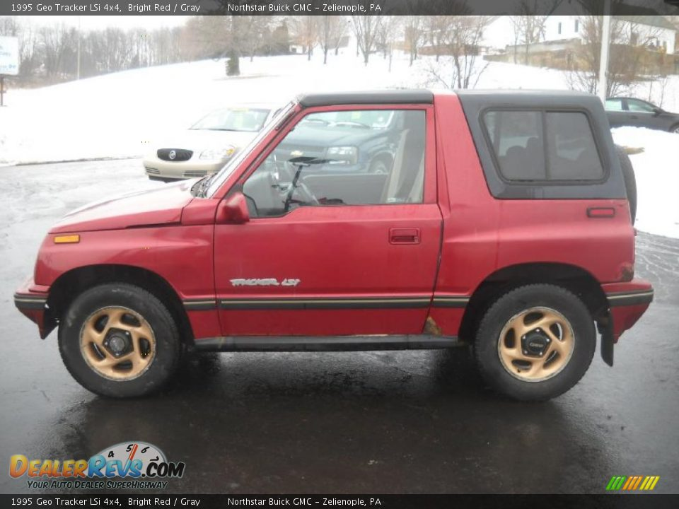 1995 Geo Tracker Lsi 4x4 Bright Red Gray Photo 6