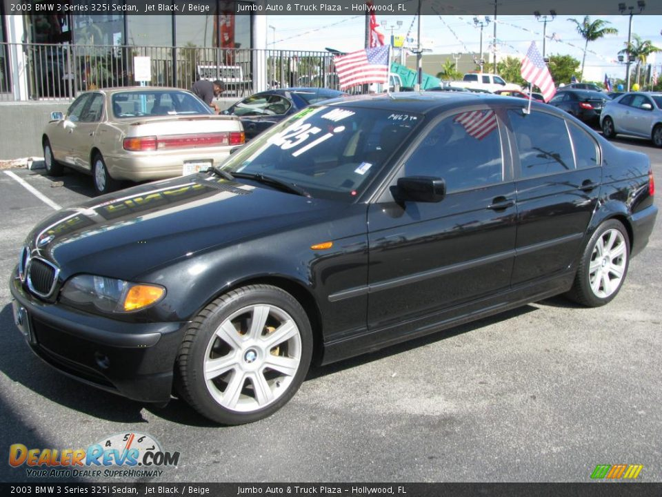 2003 bmw 3 series 325i sedan jet black beige photo 1. Black Bedroom Furniture Sets. Home Design Ideas