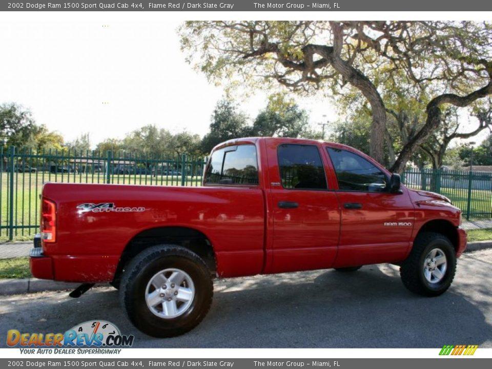 2002 dodge ram 1500 sport quad cab 4x4 flame red dark slate gray photo 8. Black Bedroom Furniture Sets. Home Design Ideas
