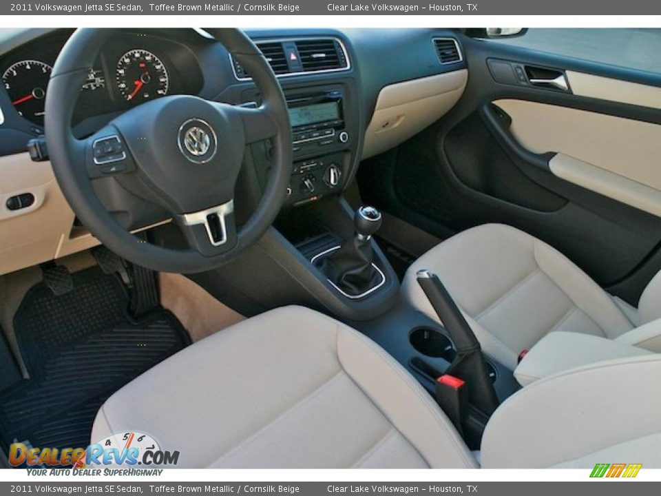 Cornsilk Beige Interior 2011 Volkswagen Jetta Se Sedan Photo 8