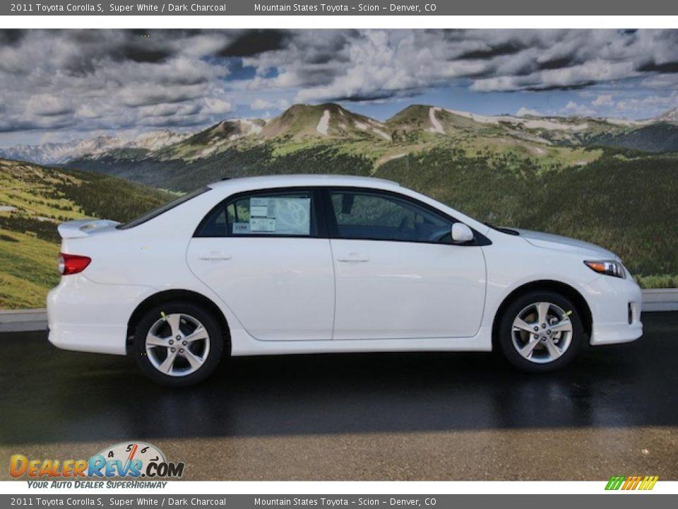 2011 Toyota Corolla S Super White Dark Charcoal Photo 2