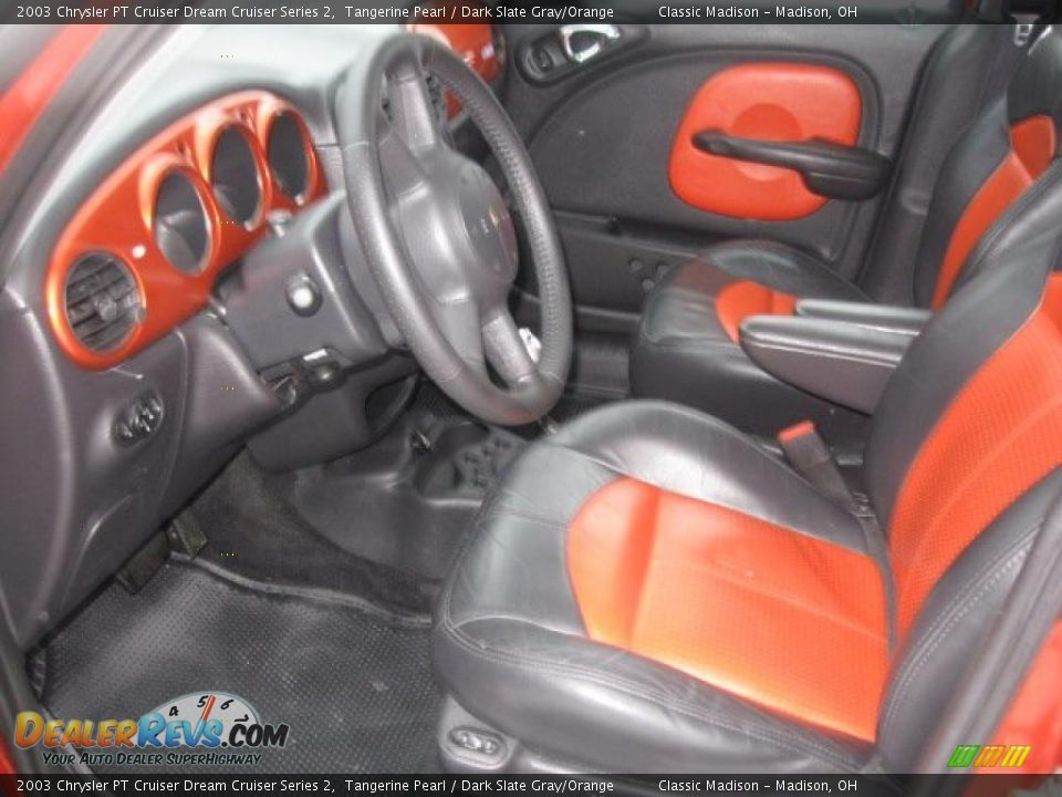 dark slate gray orange interior 2003 chrysler pt cruiser dream cruiser series 2 photo 10. Black Bedroom Furniture Sets. Home Design Ideas