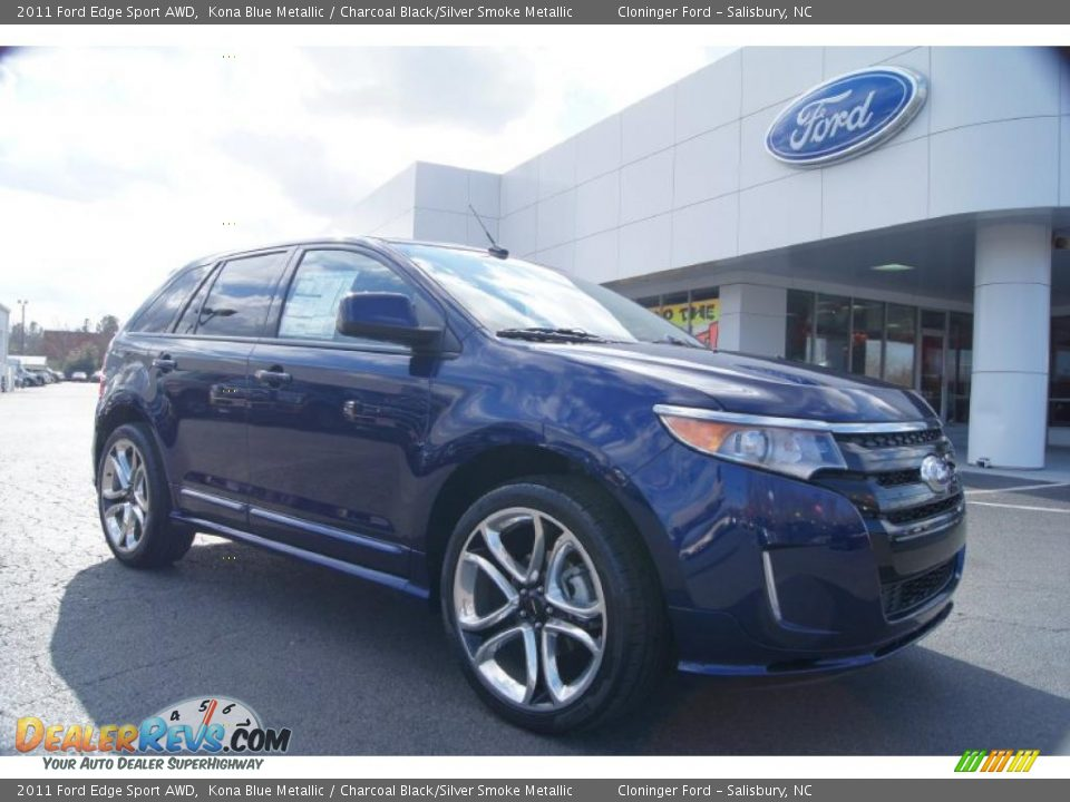 2011 ford edge sport awd kona blue metallic charcoal. Black Bedroom Furniture Sets. Home Design Ideas