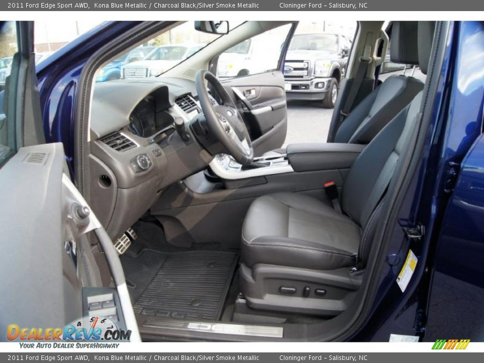 charcoal black silver smoke metallic interior 2011 ford edge sport awd photo 9. Black Bedroom Furniture Sets. Home Design Ideas