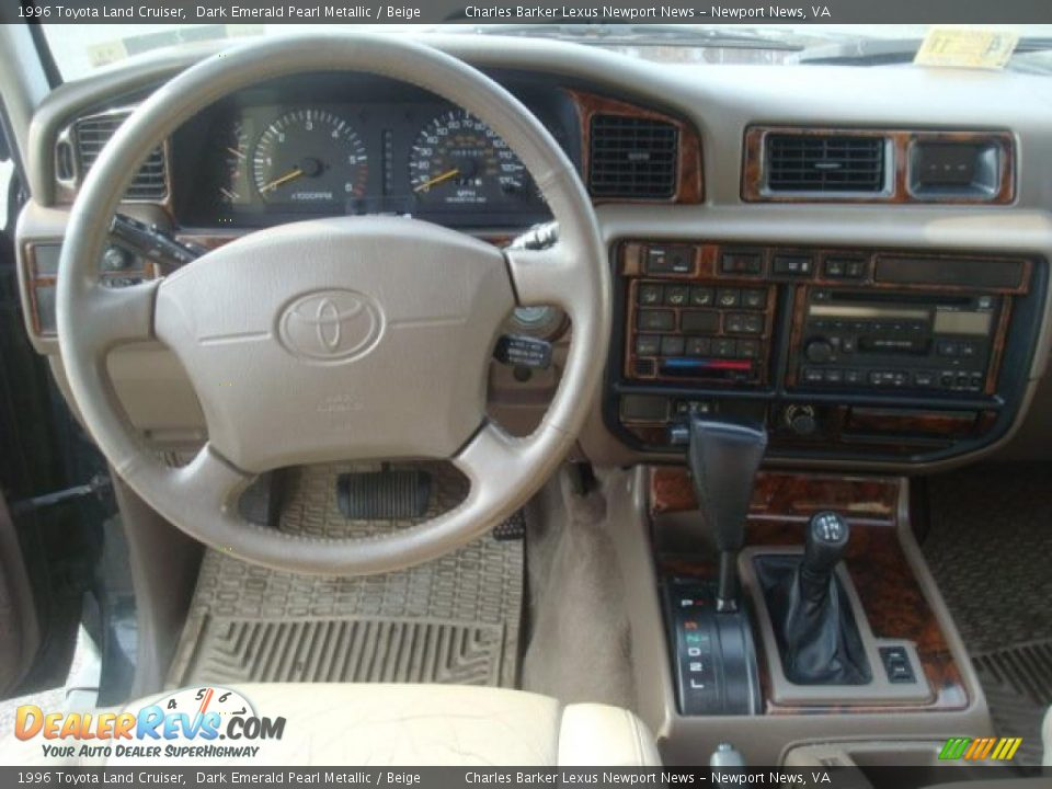 Beige Interior 1996 Toyota Land Cruiser Photo 16