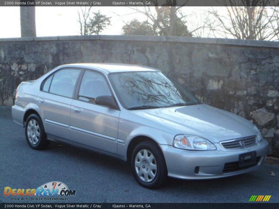 2000 honda civic vp sedan vogue silver metallic gray for Honda civic vp