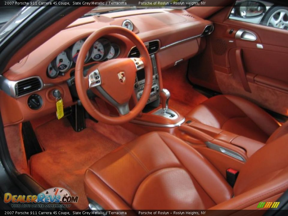 Terracotta Interior 2007 Porsche 911 Carrera 4s Coupe