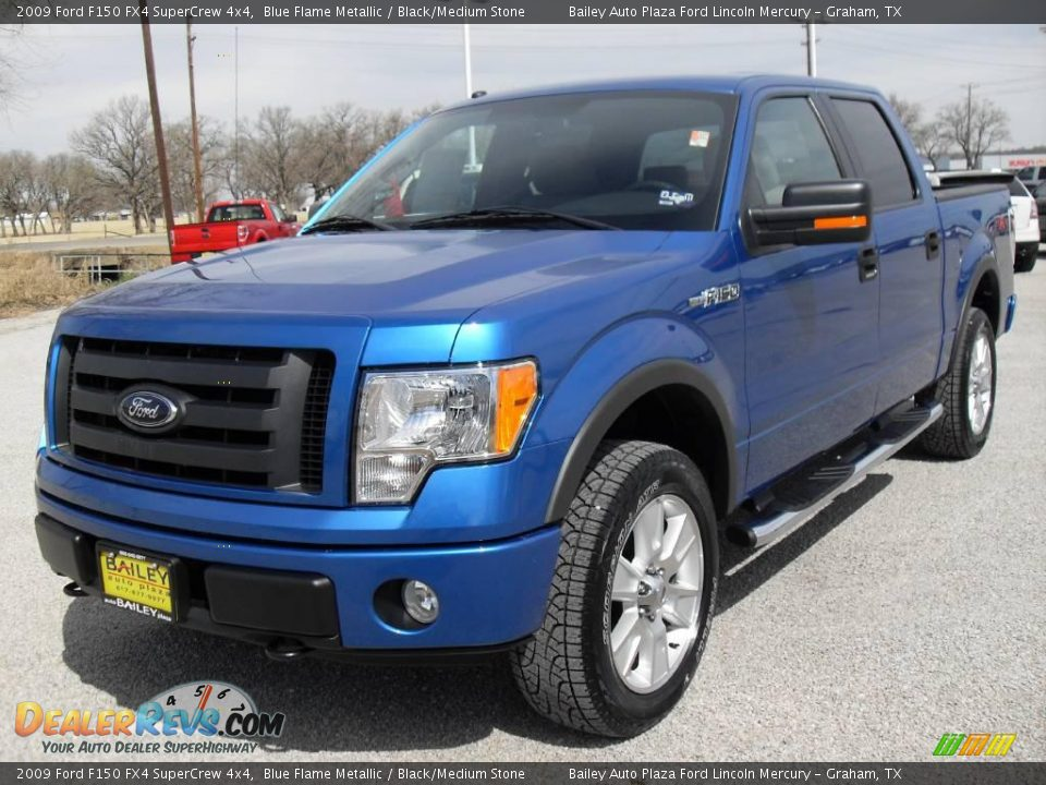 2009 ford f150 fx4 supercrew 4x4 blue flame metallic. Black Bedroom Furniture Sets. Home Design Ideas