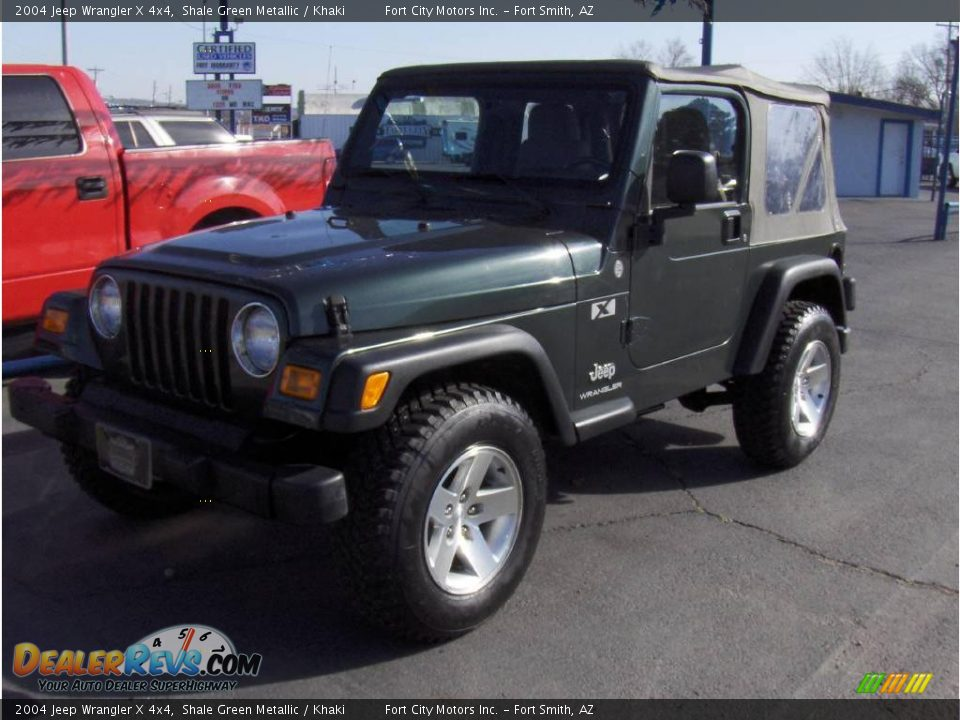2004 jeep wrangler x 4x4 shale green metallic khaki photo 1. Black Bedroom Furniture Sets. Home Design Ideas