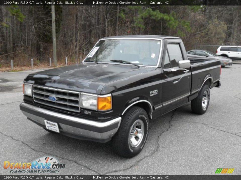 1990 ford f150 xlt lariat regular cab black gray photo 1. Black Bedroom Furniture Sets. Home Design Ideas