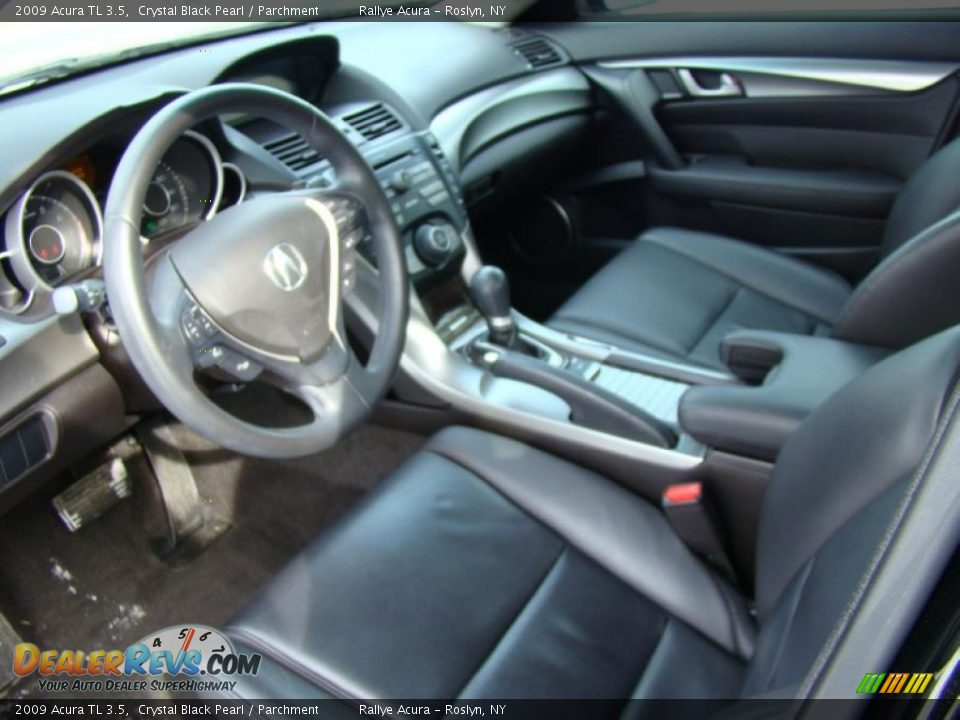 2009 acura tl 3 5 crystal black pearl parchment photo. Black Bedroom Furniture Sets. Home Design Ideas
