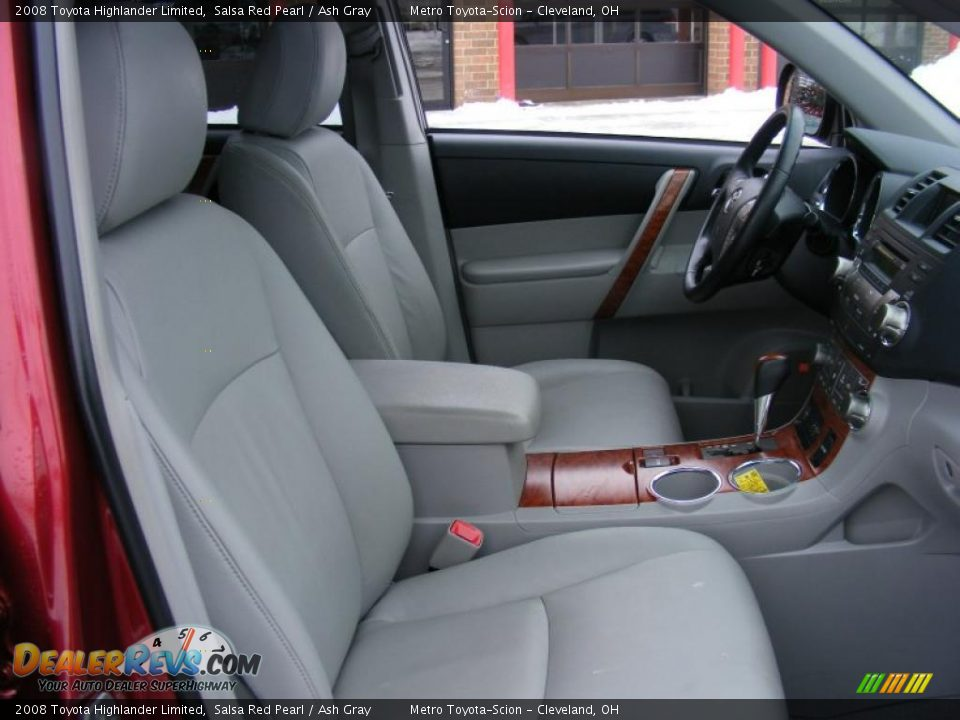 Ash Gray Interior 2008 Toyota Highlander Limited Photo 15