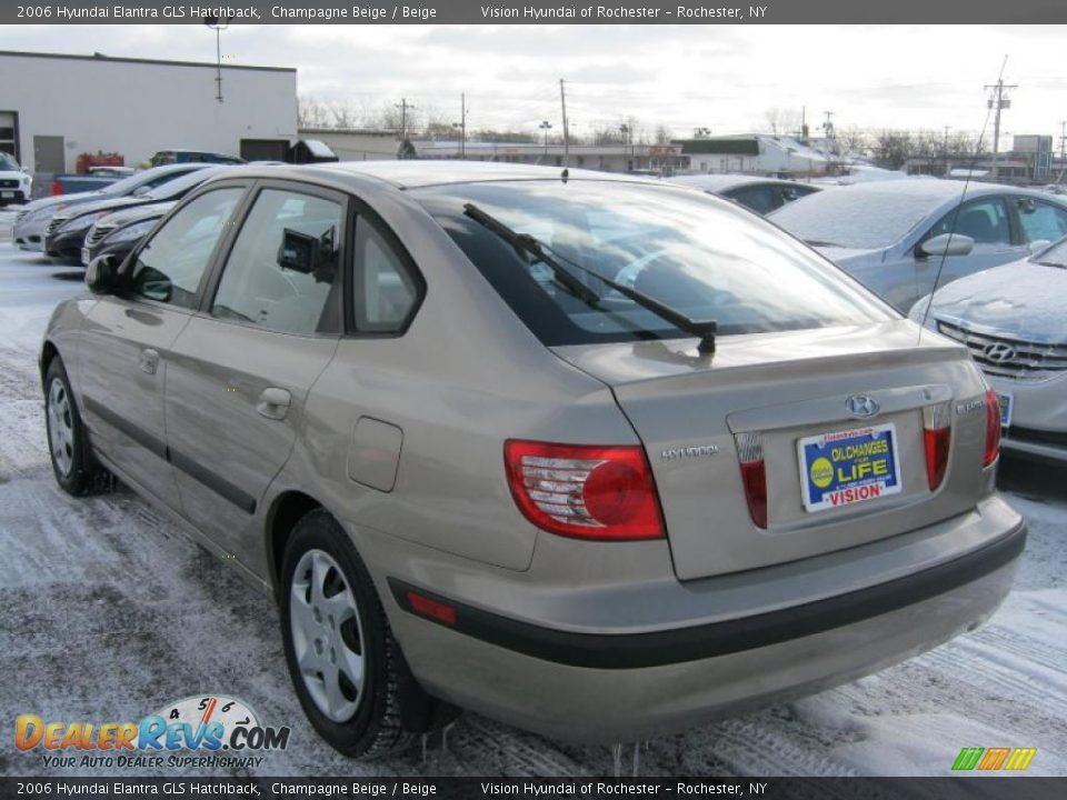 2006 hyundai elantra gls hatchback champagne beige beige. Black Bedroom Furniture Sets. Home Design Ideas
