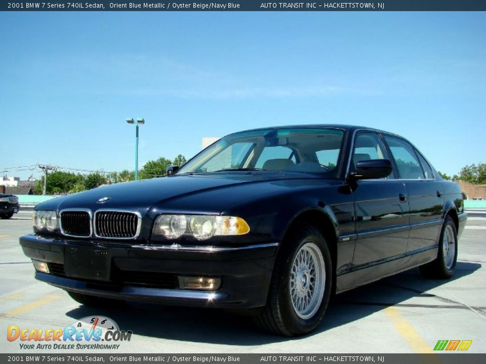 2001 Bmw 7 Series 740il Sedan Orient Blue Metallic