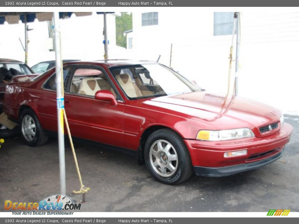 1992 Acura Legend LS Coupe Cassis Red Pearl Beige Photo 3