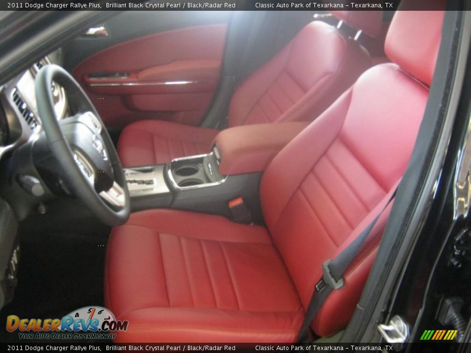 Black Radar Red Interior 2011 Dodge Charger Rallye Plus