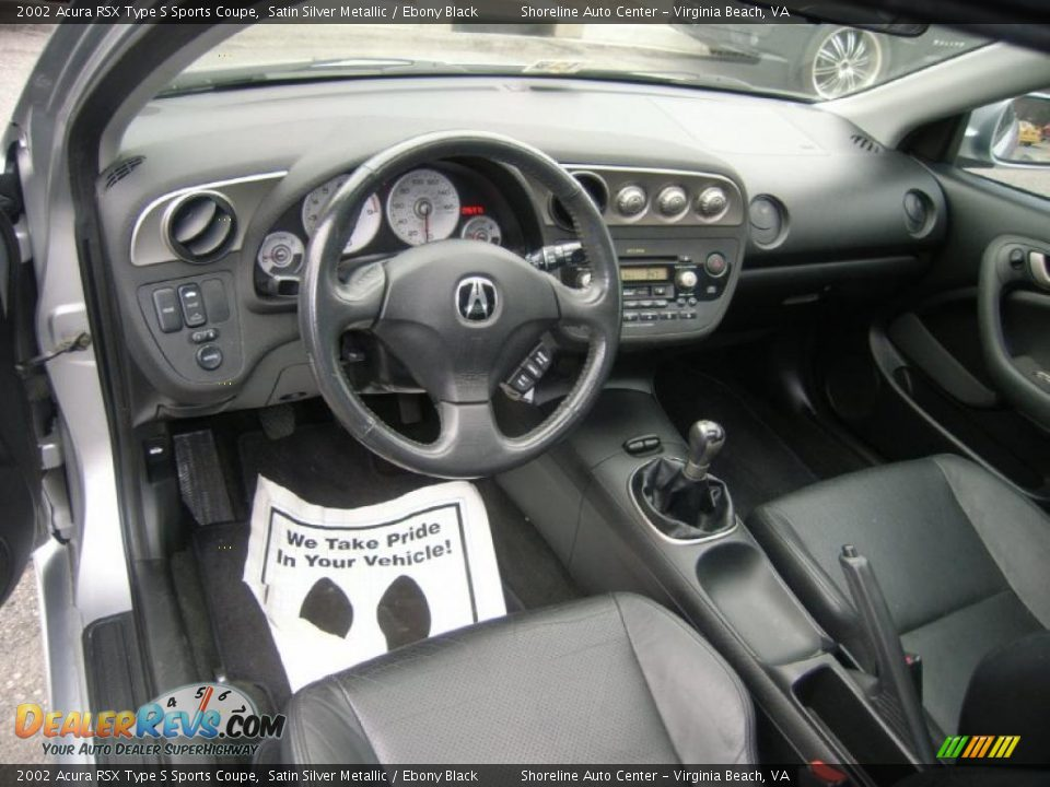 ebony black interior 2002 acura rsx type s sports coupe. Black Bedroom Furniture Sets. Home Design Ideas