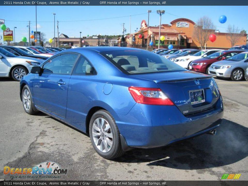 Atomic Blue Metallic 2011 Honda Civic EX Coupe Photo #3 | DealerRevs.com