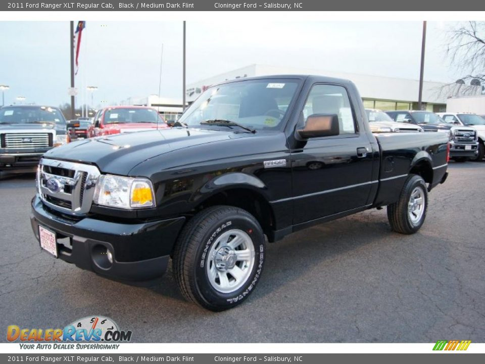 front 3 4 view of 2011 ford ranger xlt regular cab photo. Black Bedroom Furniture Sets. Home Design Ideas