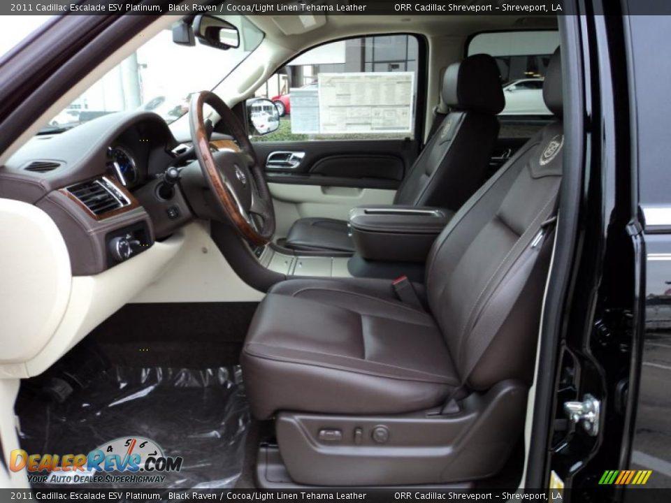Cocoa Light Linen Tehama Leather Interior 2011 Cadillac Escalade Esv Platinum Photo 7