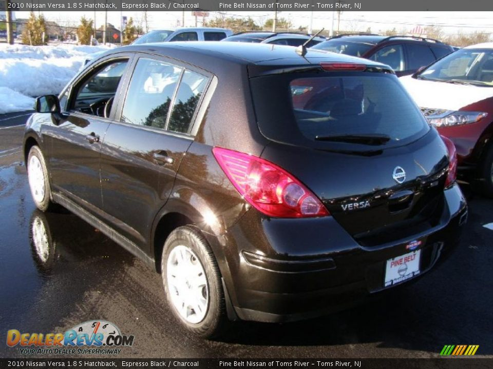 espresso black 2010 nissan versa 1 8 s hatchback photo 5. Black Bedroom Furniture Sets. Home Design Ideas