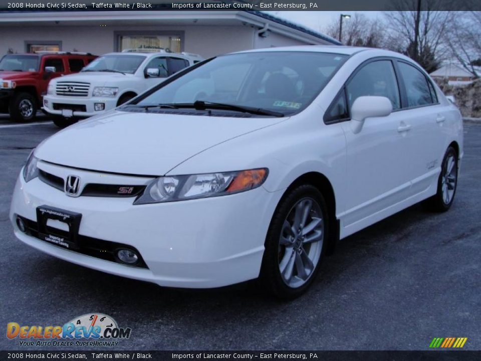2008 honda civic si sedan taffeta white black photo 3 for Honda civic si white