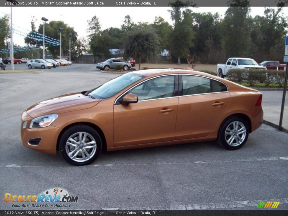 2012 volvo s60 t5 vibrant copper metallic soft beige photo 4. Black Bedroom Furniture Sets. Home Design Ideas