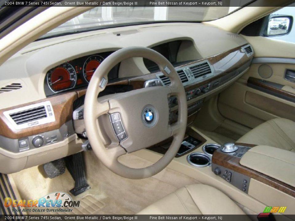 Dark Beige Beige Iii Interior 2004 Bmw 7 Series 745i